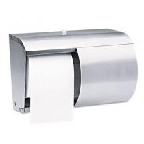 Reflections Tissue Dispenser, 2 Roll, Coreless, 10 1/10 x 6 2/5 x 7 1/10, Silver