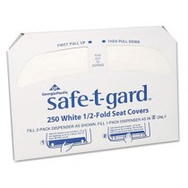 Half-Fold Toilet Seat Covers, White