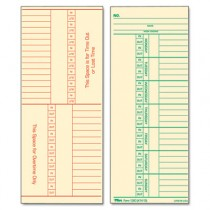 Time Card for Cincinnati, Named Days, Two-Sided, 3-3/8 x 8-1/4, 500/Box