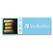 Clip-It USB Flash Drive, 4G, Blue