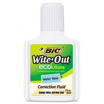 Wite-Out Water-Based Correction Fluid, 20 ml Bottle, White