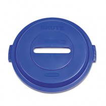 Paper Recycling Top for Brute 32 gal Containers, Blue