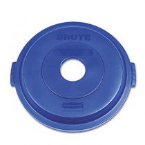 Bottle/Can Recycling Top for Brute 32 gal Containers, Blue