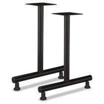 T-Leg Training Table Base, 22w x 28-3/8h, Matte Black, 1 Pair