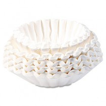 Flat Bottom Coffee Filters, 12-Cup Size, 250 Filters/Pack