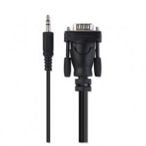 VGA Cable, Laptop to TV, 10 ft, Black