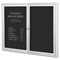 "Enclosed Directory Board, 48""w x 36""h, Aluminum Frame"