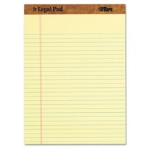 The Legal Pad Legal Rule Perforated Pads, Letter Size, Canary, 50 Sht Pds,  Dozen