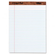 The Legal Pad Ruled Perforated Pads, 8 1/2 x 11 3/4, White, 50 Sheets/Pad