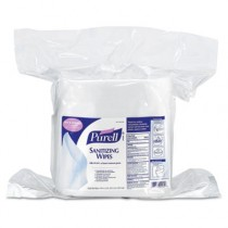 Sanitizing Wipes, 6 x 8, White