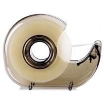 """H127 Refillable Handheld Tape Dispenser, 1"""" core, Plastic/Metal, Smoke"""