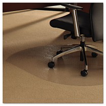 ClearTex Ultimat Polycarbonate Chair Mat for Carpet, 49 x 39, Clear