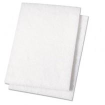 Light Duty Scour Pad, White, 6 x 9