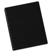 Classic Grain Texture Binding System Covers, 11-1/4 x 8-3/4, Black