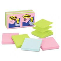 Pop-Up Note Refills, 3 x 3, Pastel, 12 100-Sheet Pads/Pack