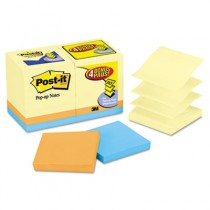 Bonus Pack Pop-Up Refills 3 x 3, Canary Yellow/Ast., 100-Sheet 18/Pack
