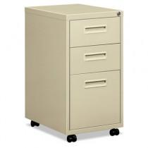 "Embark Series Mobile Box/box/File Pedestal File w/""M"" Pull Drawers, 20d, Putty"