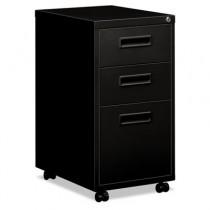 """Embark Series Mobile Box/box/File Pedestal File w/""""M"""" Pull Drawers, 20d, Black"""