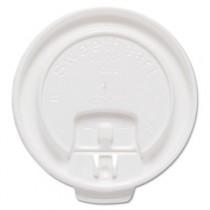 Liftback & Lock Tab Cup Lids for Foam Cups, Fits 10 oz Trophy Cups, White