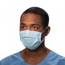 Procedure Mask, Pleat-Style w/Ear Loops, Blue