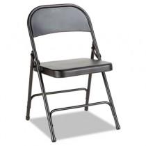 Steel Folding Chair, Graphite, 4/Carton