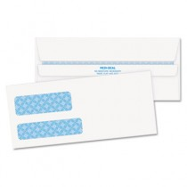 Double Window Tinted Redi-Seal Invoice & Check Envelope, #9, White, 500/Box