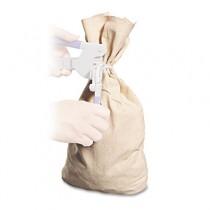 Heavyweight Cotton Duck Cloth Coin Bag, Seal Press, 12 x 19, White
