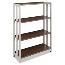 Trento Line Bookcase, 31-1/2w x 11-5/8d x 43-1/4h, Mocha