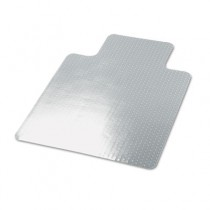 Cleated Chair Mat for Low and Medium Pile Carpet, 36w x 48l, Clear
