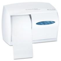 Coreless Double Roll Tissue Dispenser, 11 1/10w x 6d x 7 3/5h, White
