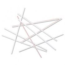 "Coffee Stir Sticks, 5 1/4"", Plastic, Red; White"