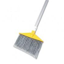 "Brute Angled Broom, Poly Bristle, 48-7/8"" Aluminum Handle, Silver/Gray"
