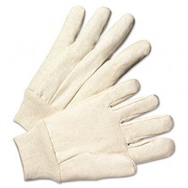 Light-Duty Canvas Gloves, White