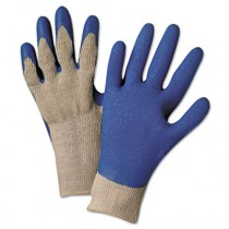 6030L Premium Knit-Back Latex-Palm, Gray/Blue, Large