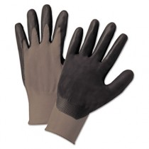 Nitrile Coated Gloves, Gray/Dark Gray, Large