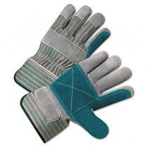 2000 Series Leather Palm Gloves, Gray/Green/Red