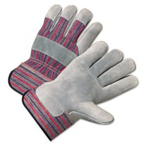 2000 Series Leather Palm Gloves, Gray/Red