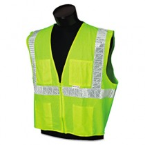 ANSI Class 2 Deluxe Style Vests, Mesh, Lime/Silver, DLX, Medium/Large