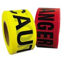 """Danger Barrier Tape, Red/Black, 3 in x 1000 ft, """"Danger"""" Text"""