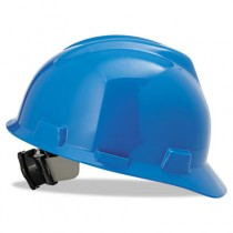 V-Gard Hard Hats with Fas-Trac Ratchet Suspension, Standard Size 6 1/2 - 8, Blue