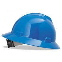 V-Gard Hard Hats w/Fas-Trac Ratchet Suspension, Standard Size 6 1/2 - 8, Blue