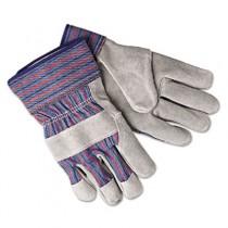 Select Shoulder Split Cow Gloves, Blue/Gray, Large