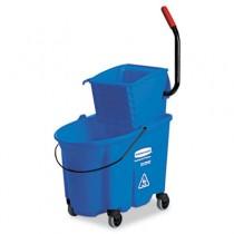 WaveBrake Side-Press Wringer/Bucket Combo, 8.75 gal, Blue