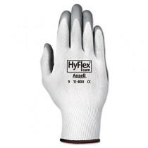 HyFlex Foam Gloves, White/Gray, Size 8