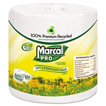 PRO Premium 100% Recycled Bath Tissue, 2-Ply,White, 4.3 x 3.66, 504/Roll