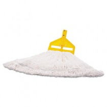 Finish Mop Heads, Nylon, White, Medium