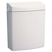 MatrixSeries Sanitary Napkin Disposal, Rectangular, Plastic, 1.3 gal, Gray