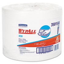 WYPALL X50 Wipers, 9 4/5 x 13 2/5, White