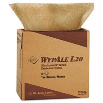 WYPALL L20 Wipers, 9 1/10 x 16 4/5, Brown, POP-UP Box