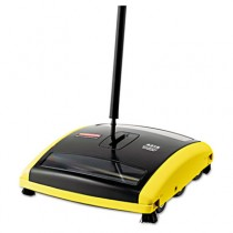 Brushless Mechanical Sweeper, 44-in Handle, Black/Yellow